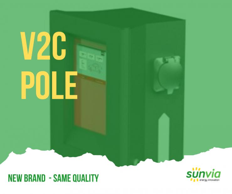 pole - v2c - carcharger - wallbox - sunvienergy