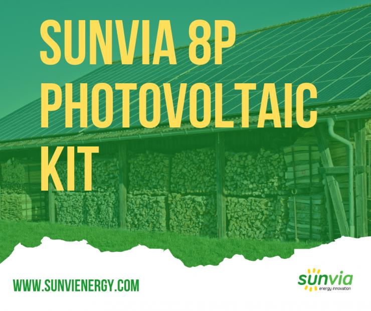 Sunvia 8P Single-Phase Photovoltaic Kit